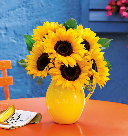 Sunny Day Sunflower Pitcher