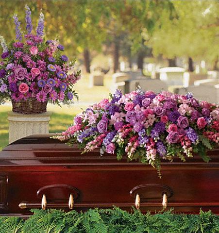 Gracious Lavender Tribute Basket