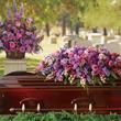 Gracious Lavender Tribute Casket Spray